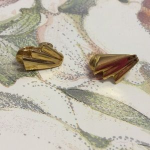 Monet Clip on Earrings Goldtone
